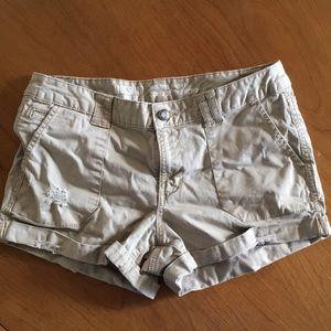 MOSSIMO Khaki Mid Rise Shorts